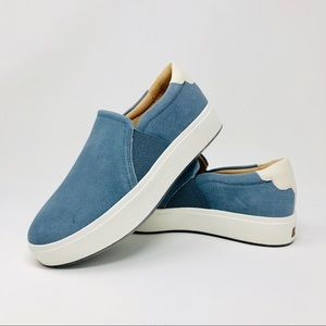 Dr. Scholl's US 8M Blue Suede Slip On Sneakers